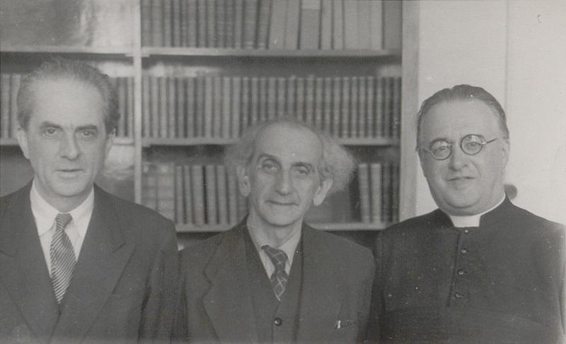 Visite du professeur Cornelius Lanczos au Collège des Prémontrés