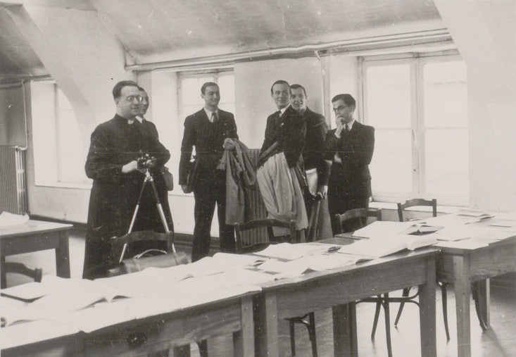 Georges Lemaître et ses collègues