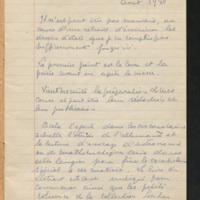 """Carnet """"Retraite 1940. Projet de cours d'Astronomie. Généralités sur le problème des 4 points"""""""