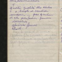 """Carnet de """"Retraite août 1949"""""""